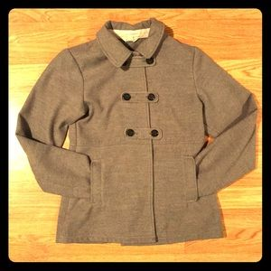 Lands' End Gray Military/Pea Coat